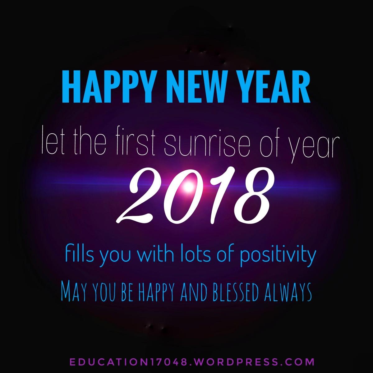 Year 2018 , happy new year