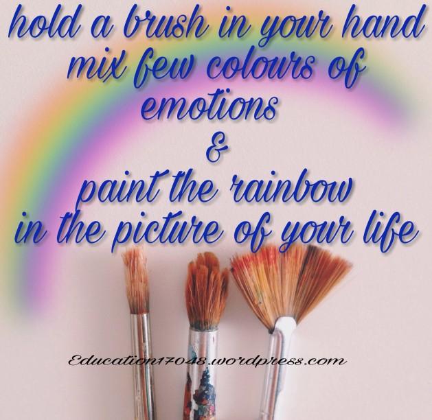 Life, quotes , rainbow , inspi