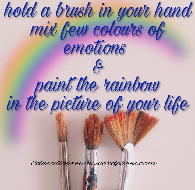 Life, quotes , rainbow , inspi