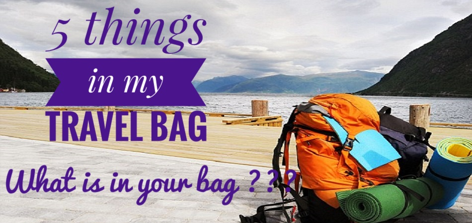 Travel, travel bag, things required for travelling
