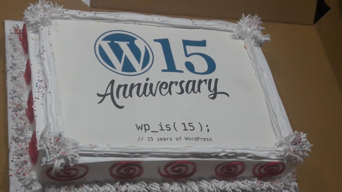 15 year Celebration of WordPress