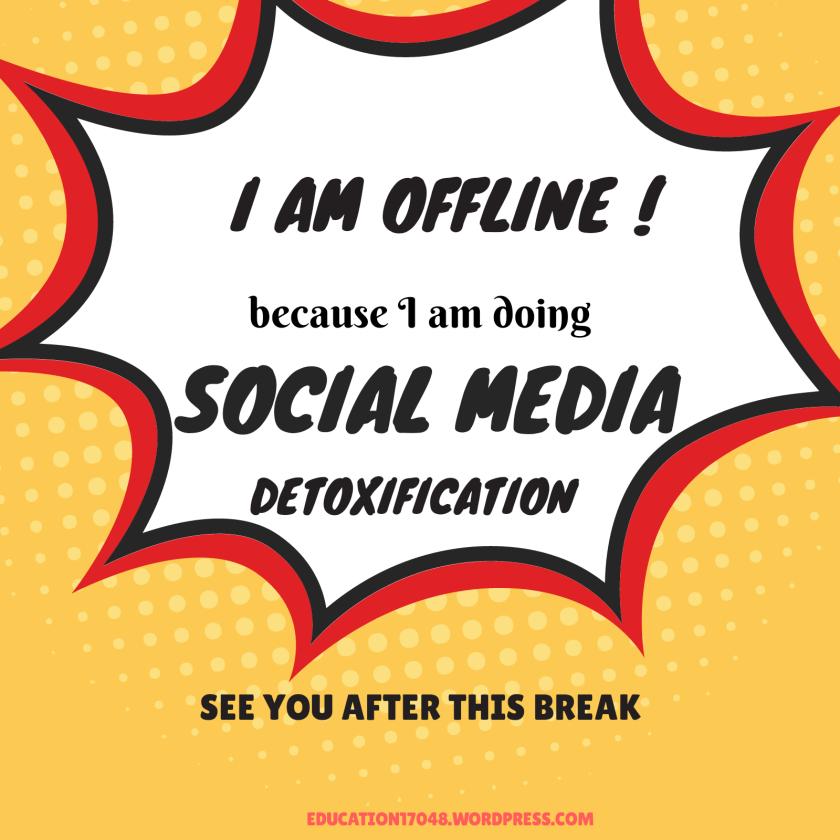 Social Media Detoxification, digital detox, journey of life continues