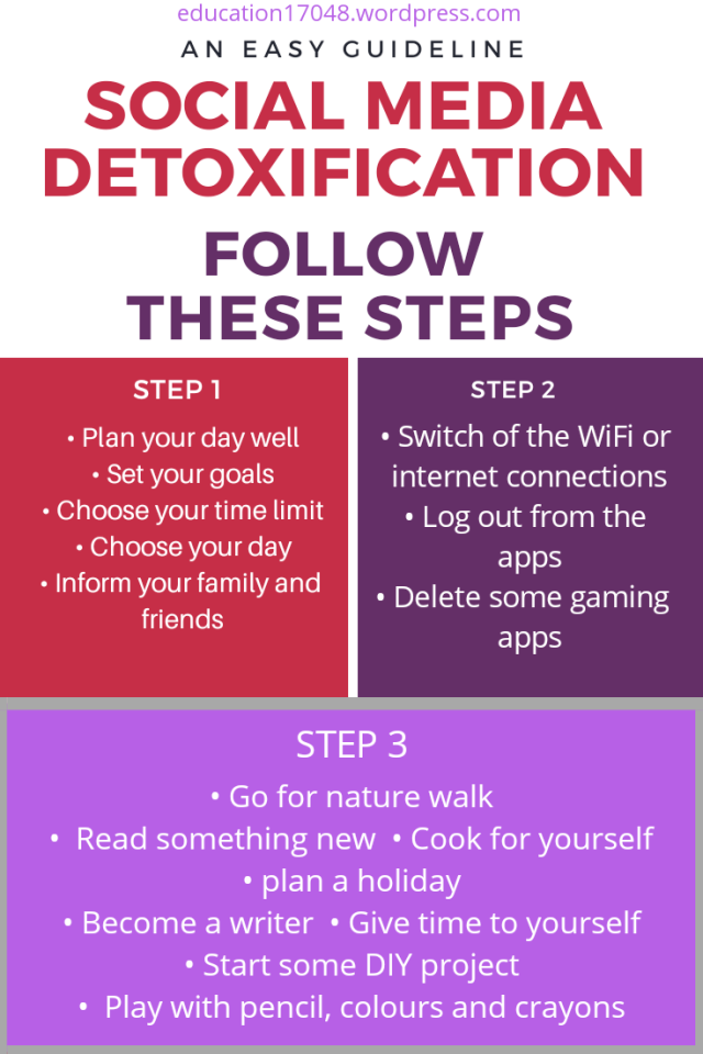 Social media detoxification, digital detox, journey of life continues