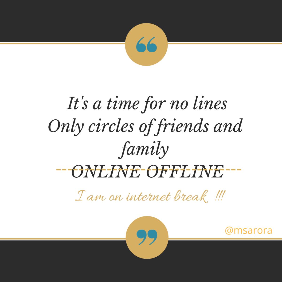 Social media detoxification, journey of life continues