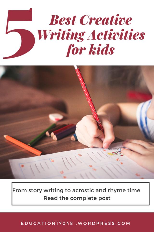 Creative writing tools, kids activities