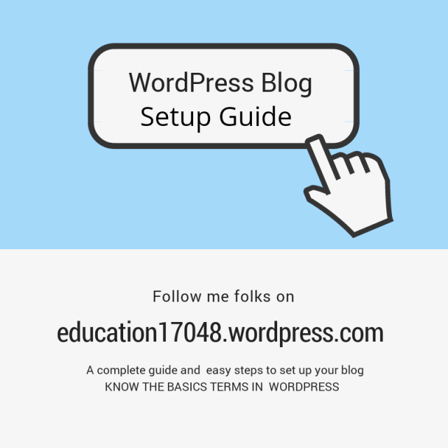 WordPress blog setup, a guide to new bloggers