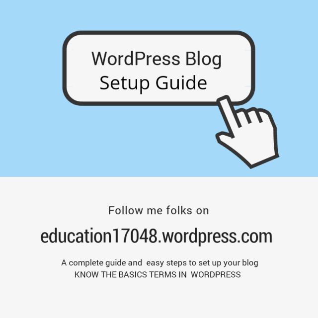 WordPress blog setup, a guide to new bloggers