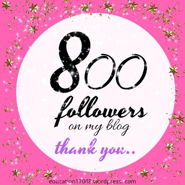 800 followers on WordPress. Thank you post for wordpress community