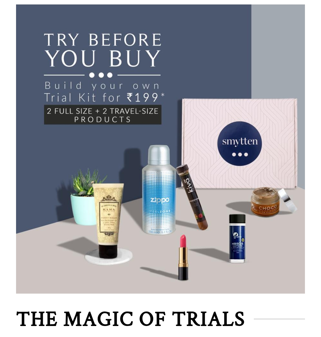 Smytten products, symtten website, review