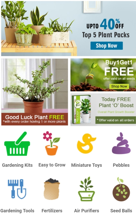 NURSERYLIVE website , online plants buy , online gardening products