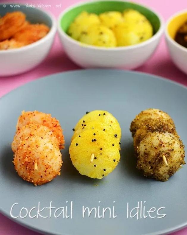 Cocktail Mini Idlis, Diwali recipes, Indian