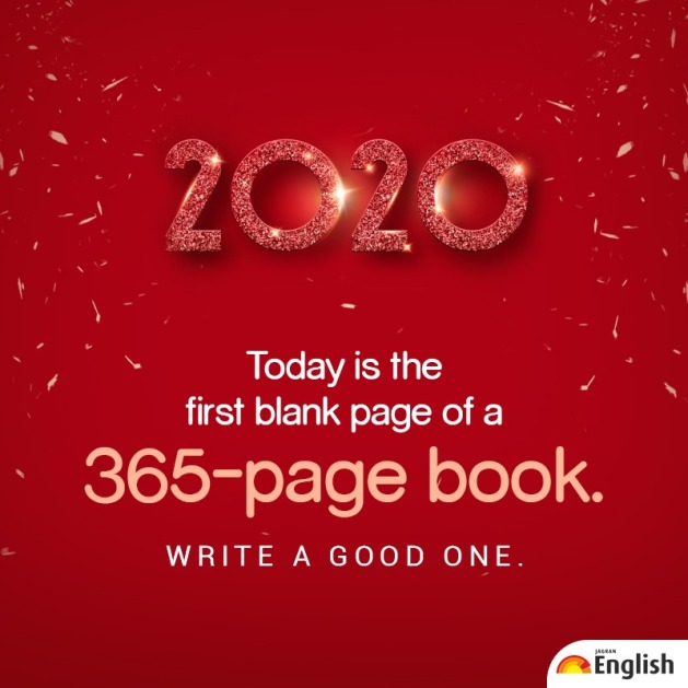 Happy new year, welcome 2020, new year quote