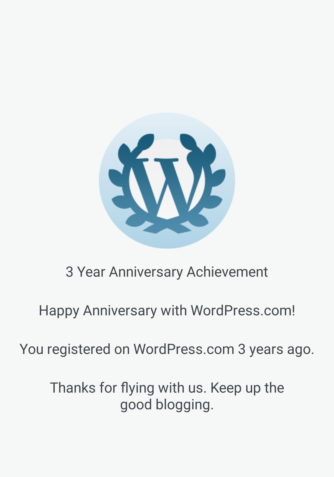 3 year blogging journey,